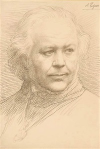 portrait of a man by alphonse legros