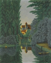 canal et village by camille bombois