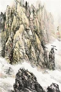 黄山秋意图 by liu chenqi