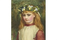girl with festoon by charles sillem lidderdale