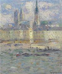 le cathédrale de rouen by gustave loiseau
