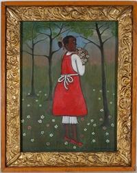 girl with wild flowers by lorenzo scott