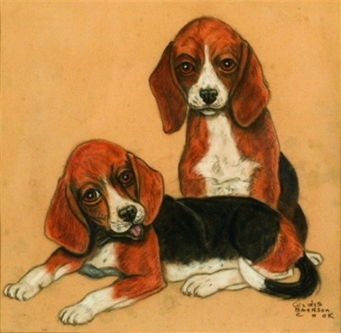 pair of beagles by gladys emerson cook
