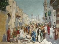 an arab street scene by adelio zeelie (zagnie)