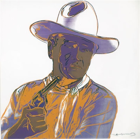 john wayne from cowboys and indians by andy warhol