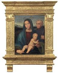 madonna col bambino e santo by giacomo raibolini