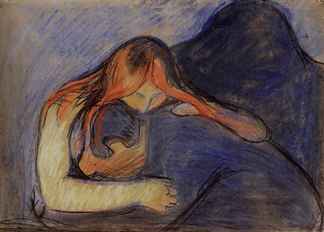 Edvard Munch - Museum De Reede   Vampire Edvard Munch