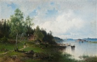 shore view by harald (sten h.) torsslow