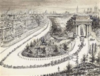 queen victoria's diamond jubilee parade at hyde park corner, london by joseph nash