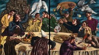 feast in the time of plague (diptych) by natalia nesterova
