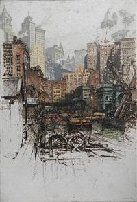 coenties slip, new york by luigi kasimir