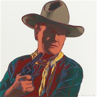 john wayne (from cowboys and indians) by andy warhol