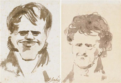 Caricature Homme caricature dun homme another pairjean-baptiste isabey on artnet