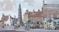 fringe of wednesday market, uttoxeter by leonard russel squirrell