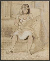 woman seated by reginald marsh