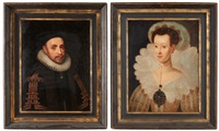 konung gustaf ii adolf och drottning maria eleonora (pair) by jacob hoefnagel