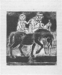 mann, kind und pferd by reinhold langner