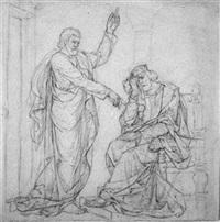 nathan verkündet dem reuigen david gottes ratschluß by alfred rethel