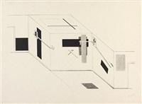 der prounen raum, pl.5 (from i. kestnermappe, proun) by el lissitzky