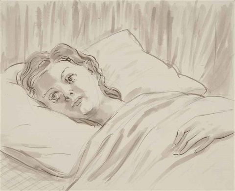 girl in bed by john currin