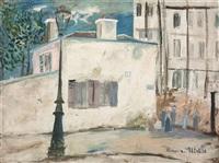 la maison de berlioz, rue du mont-cenis à montmartre by maurice utrillo