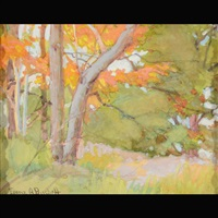 autumn woods by franz arthur bischoff