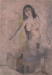 stehender weiblicher akt (standing female nude) by jankel adler