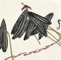 花鸟 镜片 设色纸本 by zhou shaohua
