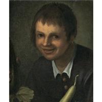 portrait of a boy brandishing vegetables by vincenzo campi