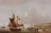 retour de la flotte de pêcheurs by hendrik vader