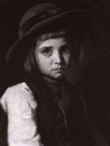 portrait of a blue eyed boy by alexandre antigna