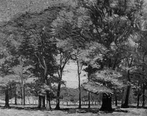forest scene by wilfred john addison