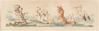 deux scénettes animalières (2 works) by benjamin rabier