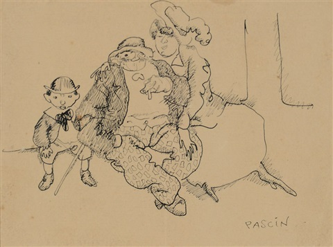 family at rest by jules pascin