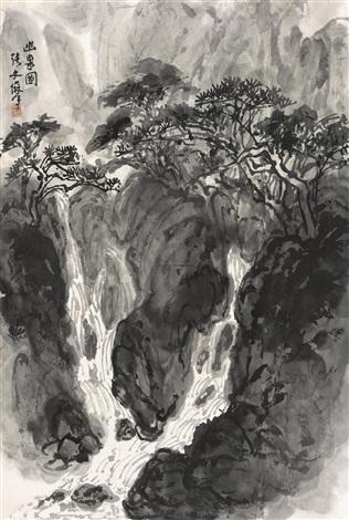 幽泉图 by zhang wenjun