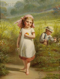 playing among the daisies by benjamin franklin reinhart