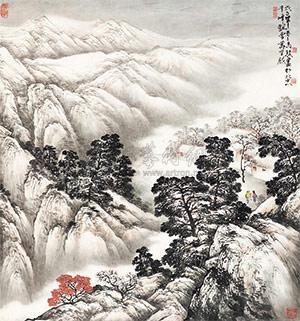 千峰飘雪 landscape by ma jun