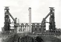 a) hochöfen 1+2, aceralia, aviles b) hochofen 3, british steel, newport c) ero stahl, eisenhüttenstadt (3 works) by uwe niggemeier
