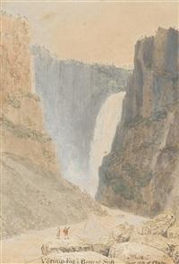 voringfossen waterfall, norway by johannes flintoe