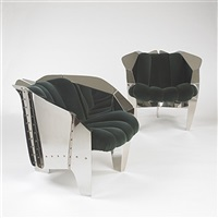 pair of chicago chairs from untitled no. 1 (collab. w/mark sexton) by ron krueck