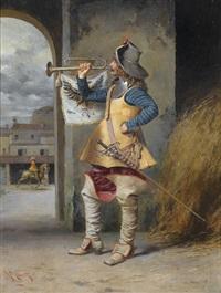 fanfare blasender musketier by angelo comte de courten