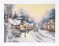 village christmas by thomas kinkade