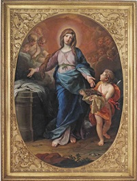 the madonna with the instruments of the passion by ludovico mazzanti