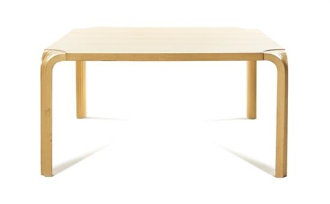 fan leg low table by alvar aalto