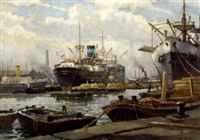 in canada yard, surrey commercial docks by george ayling