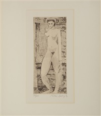 young nude girl by milton avery