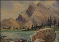 mt. rundle, banff by henry george glyde