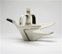 glazed ceramic bird by guido and bruno gambone