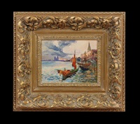 venetian gondolier by nicolas gloutchenko