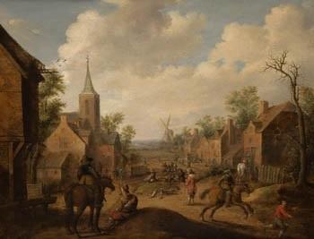 soldados saqueando una aldea by joost cornelisz droochsloot